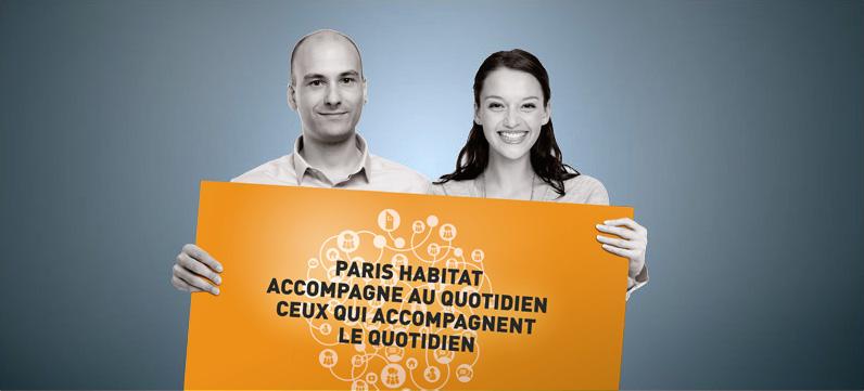 Paris Habitat accompagne au quotidien ceux qui accompagnent le quotidien